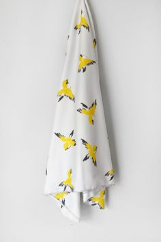 Organic+Birds+Swaddle+Blanket+by+WrenandRumor+on+Etsy,+$46.00
