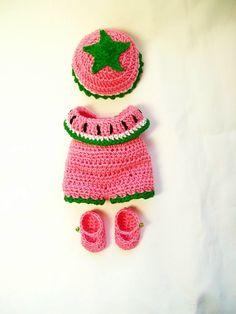 Berenguer Doll Clothes Crochet  5 inch itty by littledarlynns, $14.99