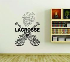 Lacrosse Equipment and Word Exteme Sports Vinyl Wall Decal Sticker