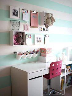 Ikea kids bedroom storage ideas bedroom ideas image of kids bedroom Cute Bedroom Decor, Cute Bedroom Ideas, Girl Bedroom Designs, Diy Room Decor, Home Decor, Room Decorations, Christmas Decorations, Cool Girl Rooms, Green Girls Rooms
