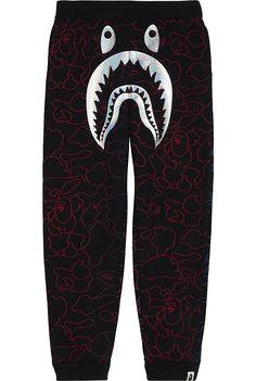 A BATHING APE - Foil shark cotton tracksuit bottoms 4-8 years   Selfridges.com