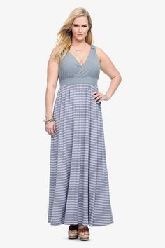 Purple and gray maxi dress