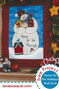 Bedeck your mantle with Holiday Cheer with this fun and festive quilted wall hanging.