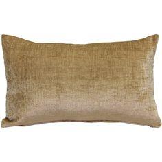 The Venetian Velvet Golden Brown Pillow is wonderfully soft and feels half chenille and half velvet but has a luster that is all velvet!