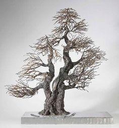 Lightening Strike Wire Tree Sculpture, Sculpture Clay, Sculptures, Free Printable Artwork, Bonsai Wire, Twisted Tree, Wire Trees, Tatoo Art, Metal Tree