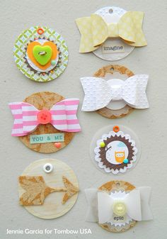 DIY Embellishments by Jennie Garcia! Gather your scraps, tools and glue and let's get busy! #Scrapbooking #ProjectLife #Handmade #DIY