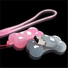 Bestselling dog bone usb flash drive cute rubber pink /blue /white 8GB 16GB 32GB usb flash drive memory stick pen drive S321 #Affiliate