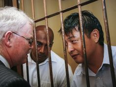 Two Australian men who could be executed within hours in Indonesia have spent their last day in the company of their loved ones.