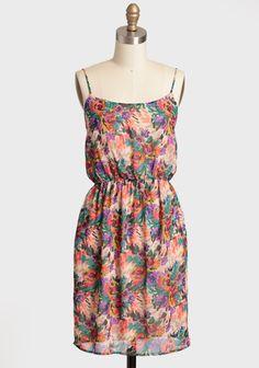Floral Party Chiffon Dress | Modern Vintage New Arrivals