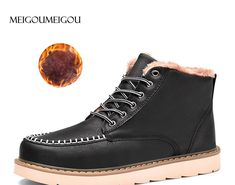 Best Seller MEIGOUMEIGOU Men Winter Shoes Warmest Genuine Leather Handmade  Men Winter Snow Boots Europe Style c18ac21e6a80