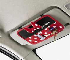Add an Extra Disney Touch with a Minnie Mouse Car Visor Storage Pocket