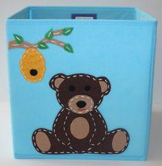 Storage Basket Kids Storage Bin Baby Room Decor by KissyMonster, $25.00