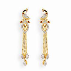 Jewelry Design Earrings, Gold Earrings Designs, Gold Jewellery Design, Ear Jewelry, Designer Earrings, Gold Jewelry, Body Jewellery, Necklace Designs, Gold Necklace