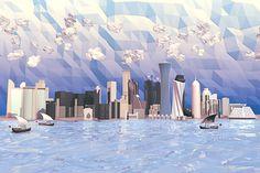 Doha, Qatar Skyline by Timothy Reynolds
