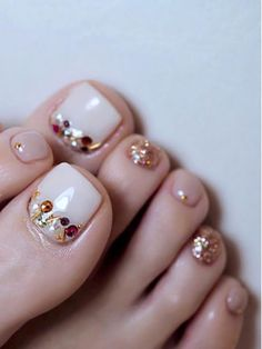 elegant and stylish bright french toe nails design; elegant toe nails in bright . - elegant and stylish bright french toe nails design; elegant toe nails in bright colors; Pedicure Colors, Pedicure Designs, Toe Nail Designs, Nails Design, Pedicure Ideas, Pretty Toe Nails, Cute Toe Nails, Pretty Toes, Diy Nails