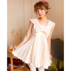 Size: Free Size Season: Spring/Autumn Dress Length: 78cm Bust: 82-90 cm Tips: Inside the lace has extra layer, will not see through ^^ Color: Light Orange/ White/Light Pink Item will be in stock after 25th, Feb since the factory will be open that time Shipping Cost: Free Worldwide I...
