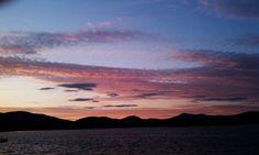 Sunset over Pontoosuc Lake, Pittsfield, Mass. #Berkshires
