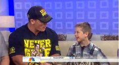 John Cena makes times to grant wishes to kids through Make A Wish. Today he granted three young gentlemen a wish they'll never forget!