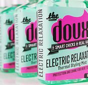 New Natural Hair Product: The DOUX Natural and Transitioning Hair Care: ELECTRIC RELAXATION Thermal Mist for temporary straightening of natural & transitioning hair. www.thedoux.com