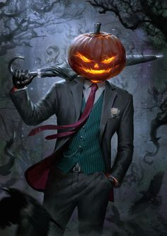 Spooky Jack O' Lantern, Billy Christian on ArtStation at https://www.artstation.com/artwork/9Zv2L