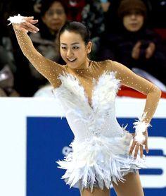2013年3月、女子フリーで演技する浅田真央