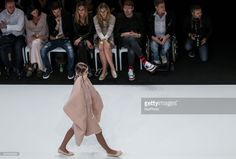 Model displays a creation by award winner Hungarian designer Imola Tóth during Mercedes-Benz Fashion Week Central Europe on Oct 15, 2017 at Museum of Applied Arts in Budapest, Hungary.