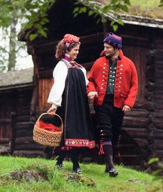FolkCostume&Embroidery: Overview of Norwegian Costumes, part The eastern heartland. This man is in a Rogaland Bunad, not Hallingdal Folk Costume, Costumes, Norwegian Clothing, Norway, Two By Two, Winter Hats, Beanie, Womens Fashion, Female Fashion