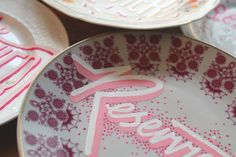 Michelberger Reserved Plates by Georgia Hill, via Behance