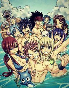 Fairytail Natsu Dragoneel, Lucy Herfitalina, Gray Fullbuster, Erza Scarlat and bubbi Fairy Tail Nalu, Fairy Tail Love, Fairy Tail Ships, Image Fairy Tail, Fairy Tail Fotos, Arte Fairy Tail, Fairy Tail Amour, Fairy Tail Guild, Fairy Tail Couples