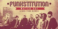 Página central del libreto del cd de Funkstitution de Watch Out diseñaod por La Mottora