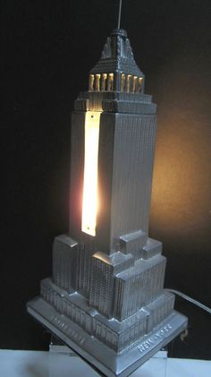 Vintage Halsam 24 pc Embossed Wood Checkers Empire State Building ...