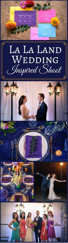 Bold and Whimsical: La La Land Inspired Shoot | Modern and Fun Wedding Ideas