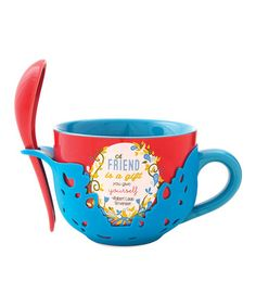 Take a look at this 'Friend' Soup Bowl & Spoon Set by Pavilion Gift Company on #zulily today!