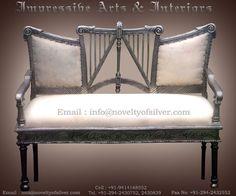 English Silver Victorian Sofa