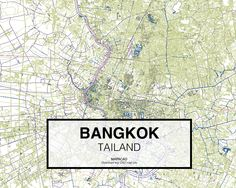 Bangkok -  Tailand. Download CAD Map city in dwg ready to use in Autocad. www.mapacad.com