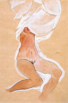 Seated Nude Girl with a Shirt Over Her Head by Egon Schiele is printed with premium inks for brilliant color and then hand-stretched over museum quality stretcher bars. 60-Day Money Back Guarantee AND Free Return Shipping.