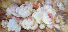 Rose Oil Painting, Oil Painting On Canvas, Painting Frames, Canvas Art, Floral Artwork, Art Floral, Flower Canvas, White Peonies, Watercolor Pattern