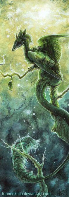 Green Forest Dragon Fantasy Myth Mythical Mystical Legend Dragons Wings Sword Sorcery Art Magic