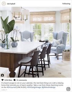 Eclectic Kitchen with Oversized Chairs in Eat in Area Kitchen Contemporary American Modern Eclectic Coastal Transitional by Jill Shevlin Design Rustic Kitchen Design, Eclectic Kitchen, Modern Farmhouse Kitchens, Dining Room Design, Dining Rooms, Coastal Farmhouse, Kitchen Designs, Kitchen Furniture, Living Room Ideas 2020
