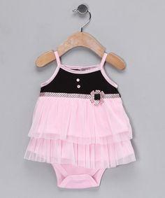 Pink Flower Skirted Bodysuit     zulily