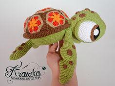 Krawka: Squirt tortuga marina de Buscando a Nemo - patrón de crochet por Krawka