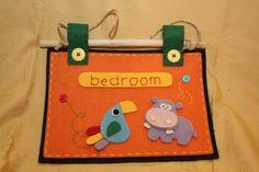 Targa Zoo Bedroom  *Le Chips di Feltro* -  Welcome Felt Zoo Bedroom