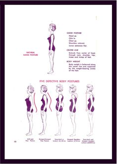 Proper Posture - I need to work on this. Such a huge difference in the look of your weight/shape. I have horrible posture! Posture Fix, Bad Posture, Improve Posture, Posture Stretches, Pilates, Postural, Perfect Posture, Tight Hip Flexors, Finishing School