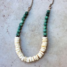 shell necklace  unisex jewelry  AUGUST necklace by aCheshireMoon