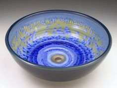 Classic Handcrafted Porcelain Clay Vessel Sink - Sky Crystal