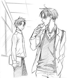 ok, mostly i just like that they drew levi with a juice box