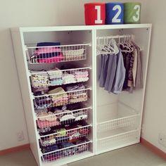 子供服収納。IKEA Stuva