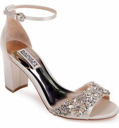 Main Image - Badgley Mischka Hines Embellished Block Heel Sandal (Women) Badgley Mischka Bridal, Badgley Mischka Shoes, Evening Sandals, Evening Shoes, On Shoes, Shoe Boots, Shoes Heels, Block Sandals, Block Heels