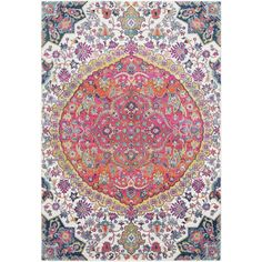 Annie Pink & Ivory Bohemian Medallion Rug (2' x 3') | Overstock.com Shopping - The Best Deals on Accent Rugs