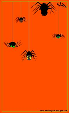 Halloween: funny spider graphic clipart; #halloween